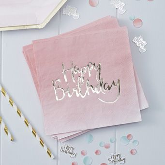 These fun Happy Birthday napkins are perfect for any birthday celebration!