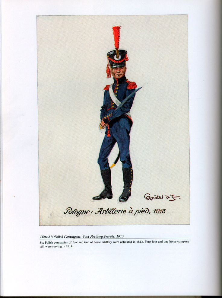 Foreign Troops: Plate 87: Polish Contingent, Foot Artillery Private, 1813.