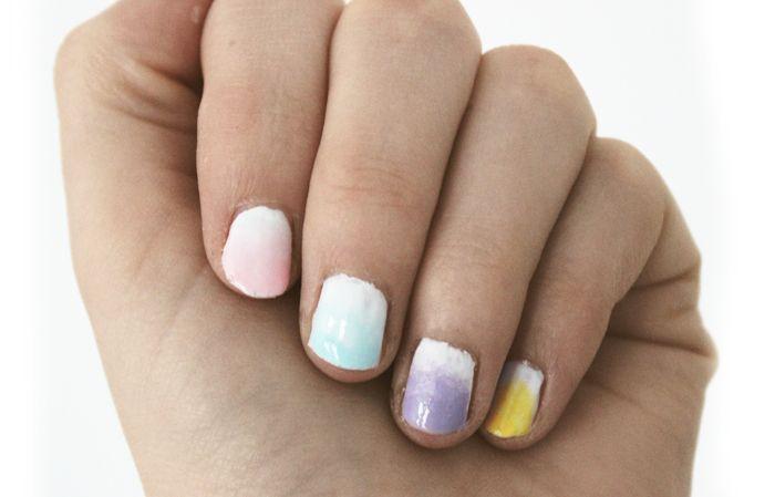 Easter Nail Art | Denise Joanne | Pastel, ombre, gradient, white, cute