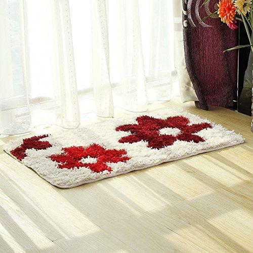 pragoo Floral Shag alfombra suave esponjosa alfombra área…