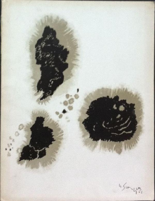 Singier. Peintures et dessins. Parigi,  Galerie de France,  1961. Edizione originale di 2000 esemplari