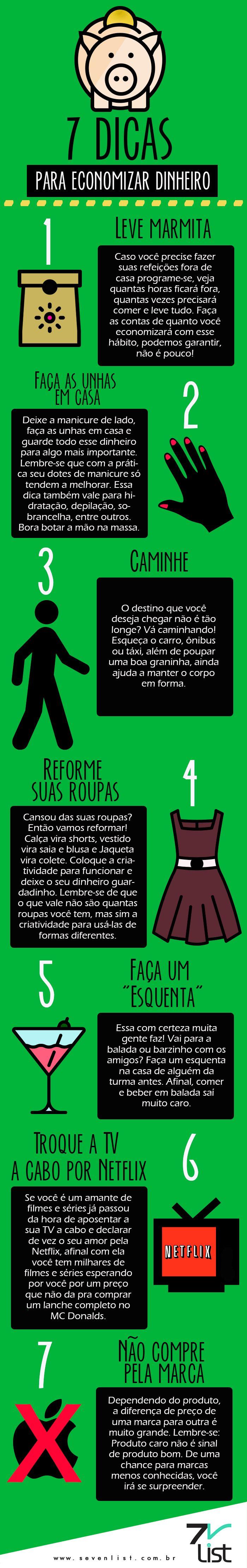 #Infográfico #Dinheiro #Economizar #Money #Future #Netflix www.sevenlist.com.br