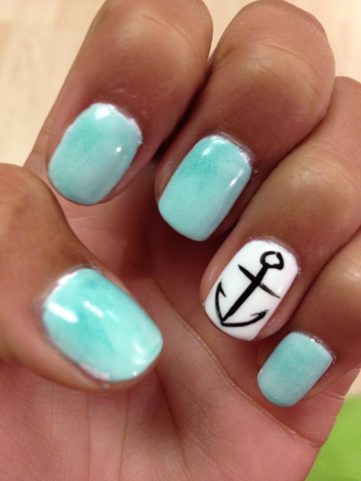 Cute Anchor Toe Nail Designs Anchor Toe Nail Design Nail Designs