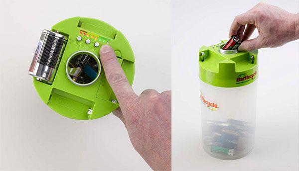 pojemnik + spr. zużycie baterii