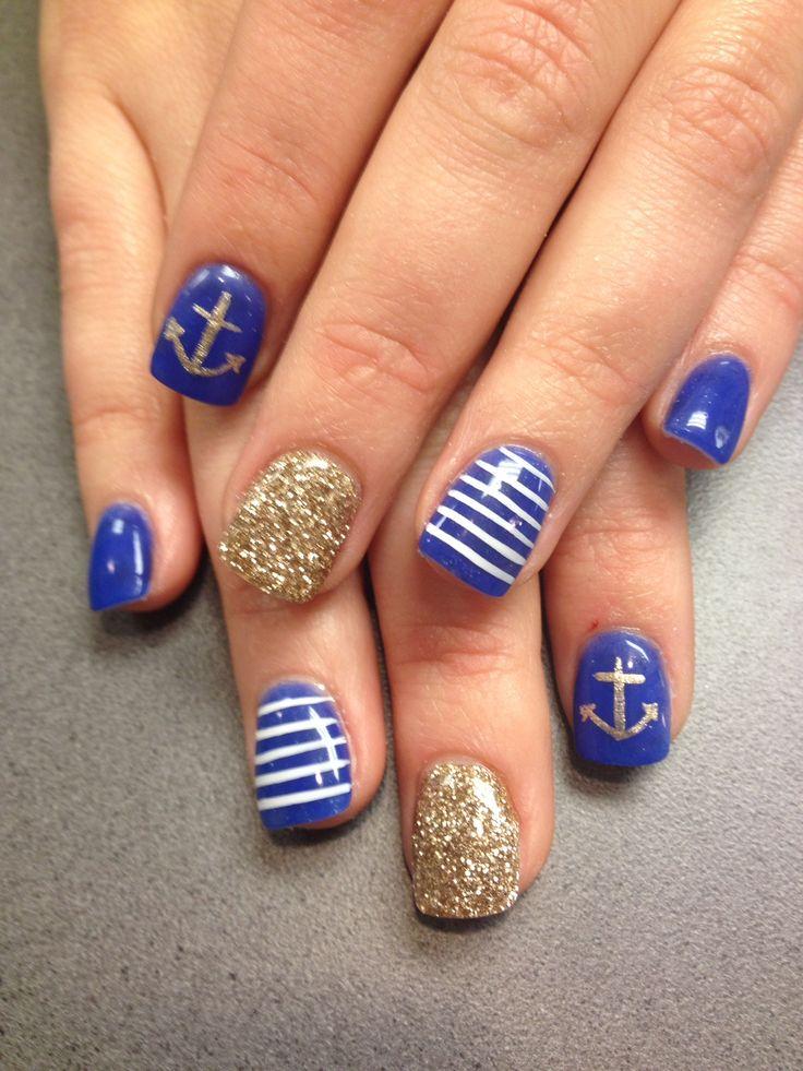 Nautical nails! The nail lounge