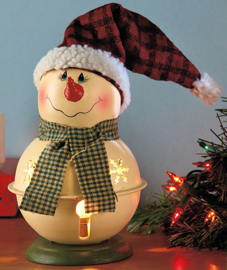 Lighted Bell Snowmen | The Lakeside Collection