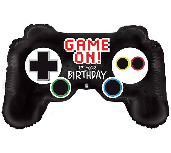 "36 "" Game On Controller Happy Birthday Balloon by OhBabyRSVP   ‪36 "" #Game On #Controller #HappyBirthday #Balloon http://etsy.me/2sa4SsX #GamersUnite #LevelUp #PS4 #gamers #gamergirl #gamer #Gamer #ad ‬"