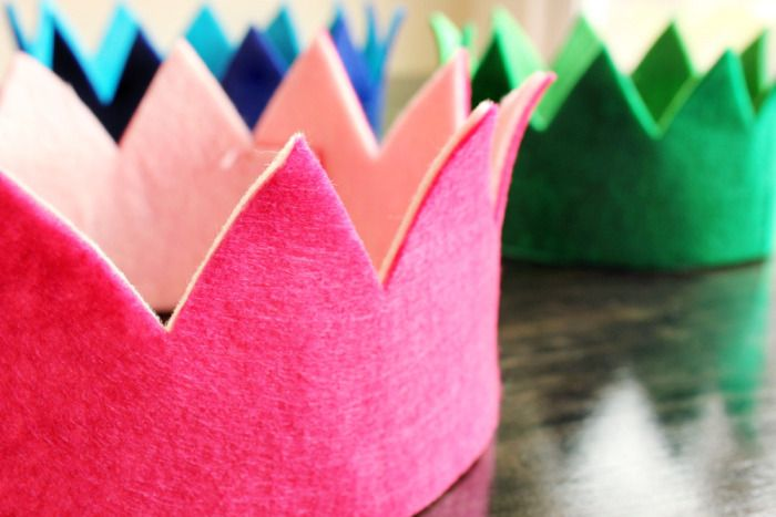 DIY Felt Crowns.
