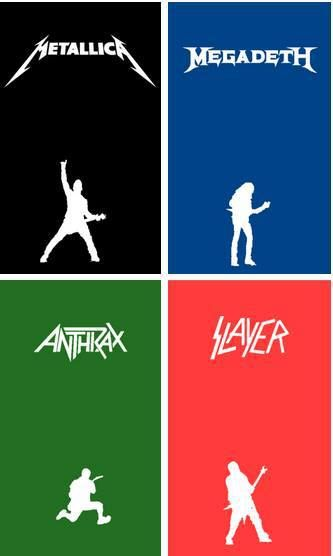 Metallica, Megadeth, Anthrax, and Slayer the big four