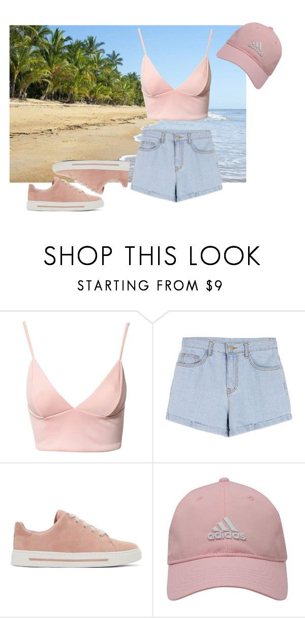 """Прогулка по пляжу"" by vieen ❤ liked on Polyvore featuring Dark Pink, Marc by Marc Jacobs and adidas Golf"