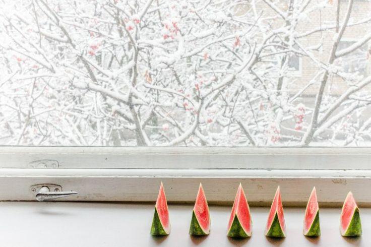 Первый снег и арбузы