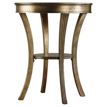 "Check out this item at One Kings Lane! Allen 22"" Round Mirror Side Table, Gold"
