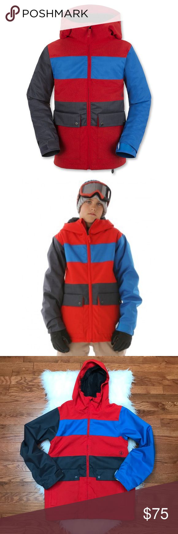 Volcom Boy's Insulated Snowboard Jacket Volcom Chiefdom Insulated Jacket. Pre-owned. Some wear on cuffs (shown in picture #5). Fully insulated; breathable lining system; helmet compatible hood; brushed tri-cot lined hand warmer pockets. 100% Polyester. Retails for $150. Volcom Jackets & Coats