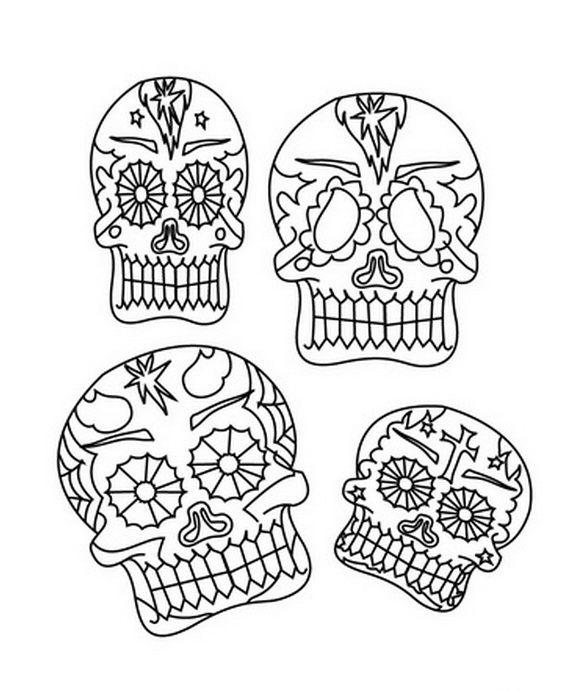 642 best images about dia de los muertos on pinterest for El dia de los muertos coloring pages