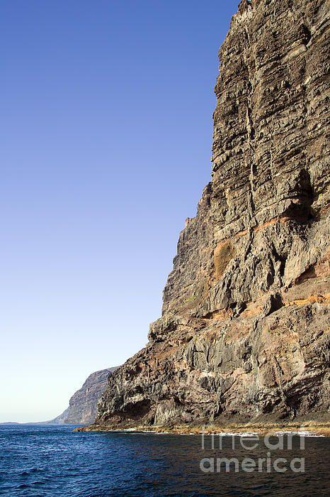 Los Gigantes cliffs by the Atlantic Ocean in Tenerife, Canary Islands, Spain.