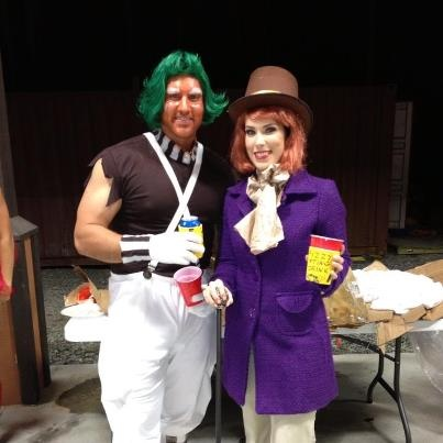 dyi halloween costume willy wonka and oompa loompa with fizzy lifting drink koozies - Oompa Loompa Halloween