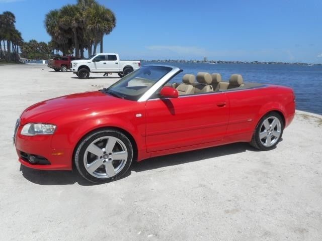Awesome Great 2008 Audi A4 2.0T 2dr Convertible (2L I4 CVT) 2008 Audi A4 2.0T S-LINE Convertible 59K Miles Misano Red EXTRA NICE! 2017/2018 Check more at https://24cars.gq/my-desires/great-2008-audi-a4-2-0t-2dr-convertible-2l-i4-cvt-2008-audi-a4-2-0t-s-line-convertible-59k-miles-misano-red-extra-nice-20172018/