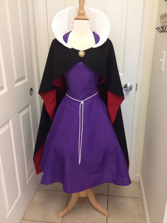 This is an adult size Evil Queen costume apron. Made of cotton. The skirt is a wrap style that provides full coverage in back yet is adjustable to fit