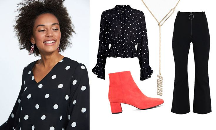 Piffa upp den svarta outfiten med färgglada detaljer!