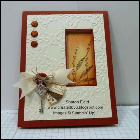 great Autumn card: Layered Cards, Cards Ideas, Fall Cards, Sharon Fields, Autumn Cards, Autumn Days, Window Cards, Paper Crafts, Su Autumn