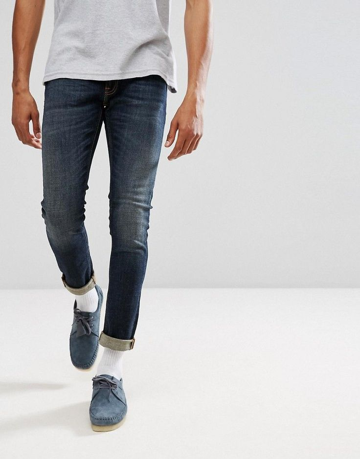 Nudie Jeans Co Skinny Lin Jean Blue Motion Wash - Blue