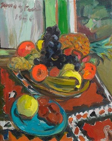 Still life of fruit by Irma Stern