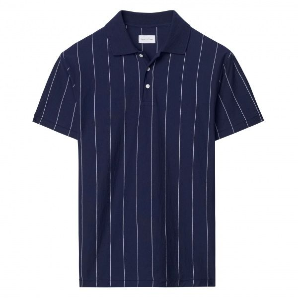 Pinstriped Polo