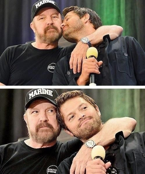 Jim Beaver and Misha Collins