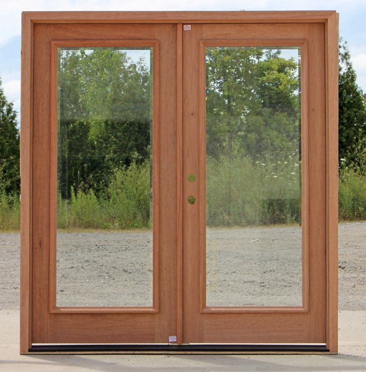 Wood Exterior Doors With Beveled Glass