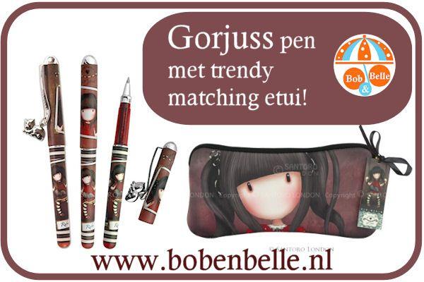"""Leuk voor pakjesavond of schoencadeautje! De zeer fraaie pennen etui van Gorjuss met bijbehorende pen in hetzelfde thema """"Ruby"""" http://www.bobenbelle.nl/c-2059639/schoolspullen/"""