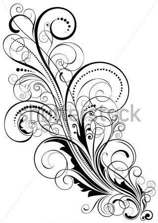 Projeto DO Redemoinho Florais Ornamentos DE Design Floral, Pretos Elemento Facilmente Reagrupar E clip arts - ClipartLogo.com
