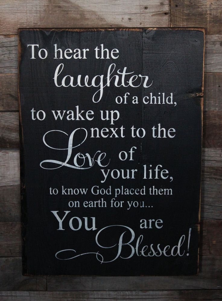 Large Wood Sign  To Hear the Laughter of a Child  by dustinshelves, $35.00