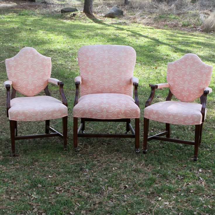 Creamy Peach Stuffed Chairs From Forever Vintage Rental