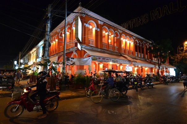 French Colonialism - A Nightlife scene in Siem Reap Cambodia