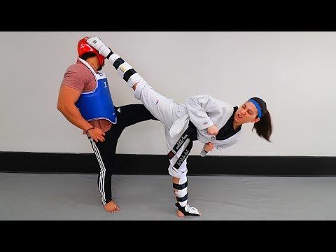 Defend Against Back Leg Kick in TKD Sparring - YouTube | tai