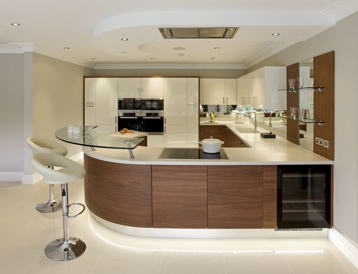 Amazing Contemporary Kitchen image of the most modest contemporary kitchen cabinet Amazing Contemporary Kitchen By Motivo Interiors Incorporating Walnut With High Gloss