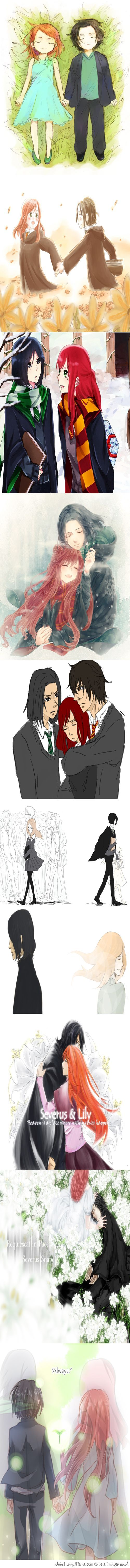 """I didn't really care for Snape until his """"always"""" part... I can never hear/read the word """"always"""" anymore without tearing up... :'("""