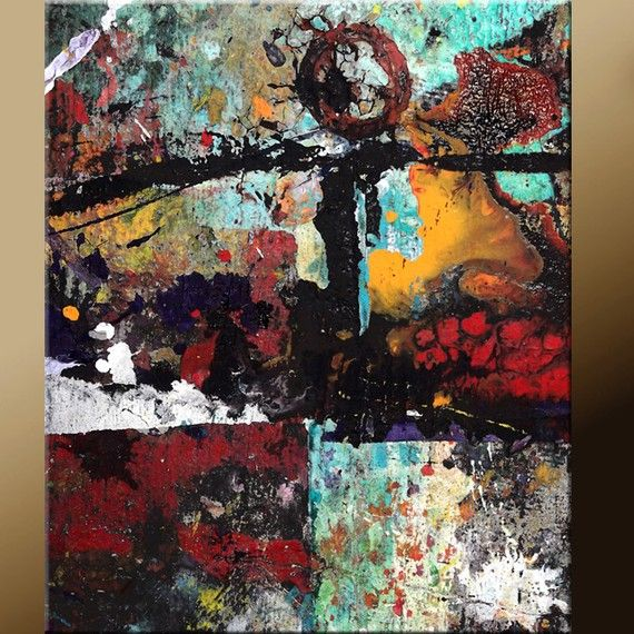 11x14 Abstract Art Print Contemporary Fine Art Prints by Destiny Womack  - Beauty of Chaos - dWo