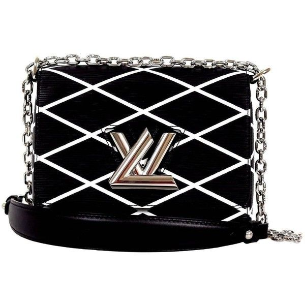 Louis Vuitton Black White Epi Leather Twist Malletage Cross Body Bag ❤ liked on Polyvore featuring bags, handbags, shoulder bags, leather crossbody messenger bag, leather shoulder bag, crossbody purse, leather purse and crossbody handbags