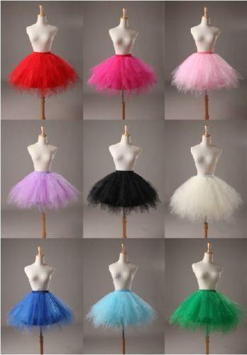 2016 Röcke Junggesellenabschied Tütü Tüllrock Petticoat Ballett Tutu
