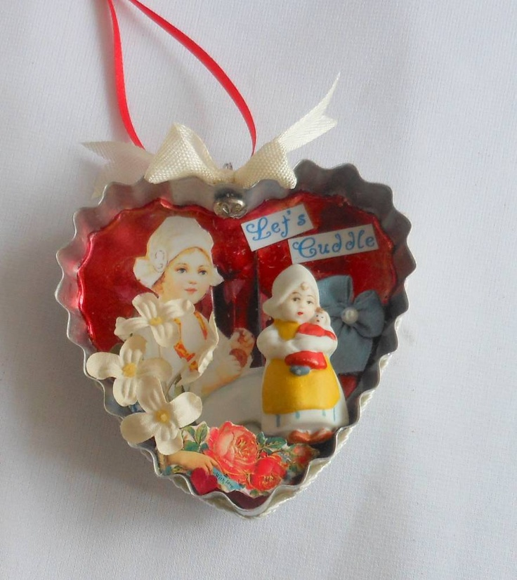 Petite Valentine Cookie Cutter as Shadow Box, Little Dutch Girl. $12.00, via Etsy. by SHRINEMAIDEN