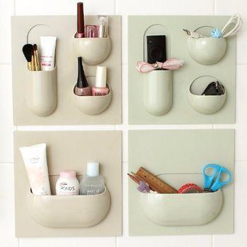 De usos múltiples de tipo pasta de Baño montado en la pared de almacenamiento en rack rack de almacenamiento de escritorio de cosméticos de rack de almacenamiento de acabado escombros marco