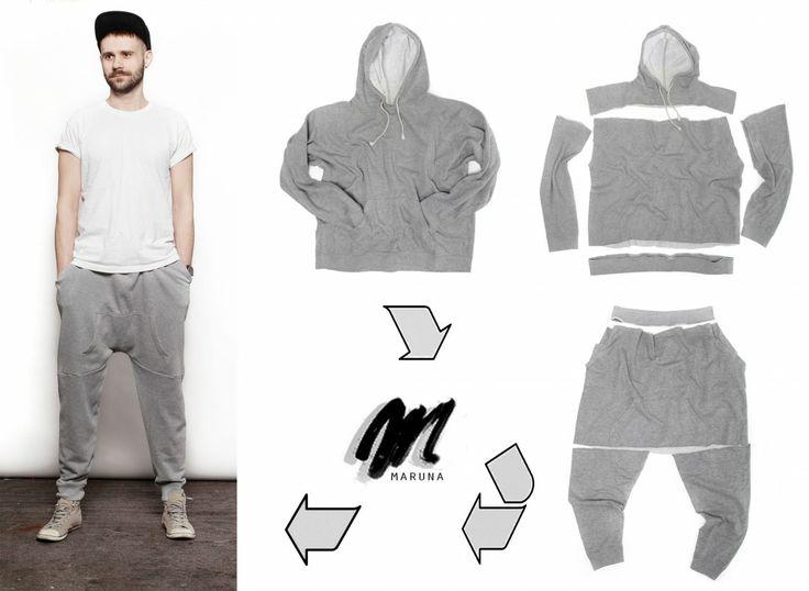 Jak zrobić spodnie z bluzy dresowej? | http://dekoeko.com/jak-zrobic-spodnie-z-bluzy/ | Czytaj więcej na www.dekoeko.com