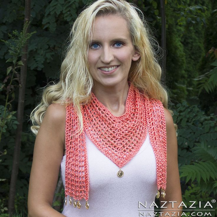 Crochet V Scarf by Donna Wolfe from Naztazia