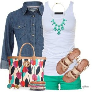 Summer outfit - longer shorts would work perfectly! :)