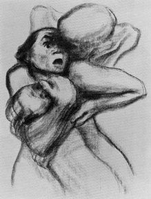 Kathe Kollwitz, a German Expressionist artist. This litho stopped me in my tracks during Art History a few days ago.