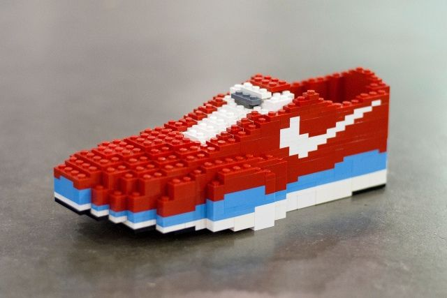 shoe lego lego sculpture lego and the o
