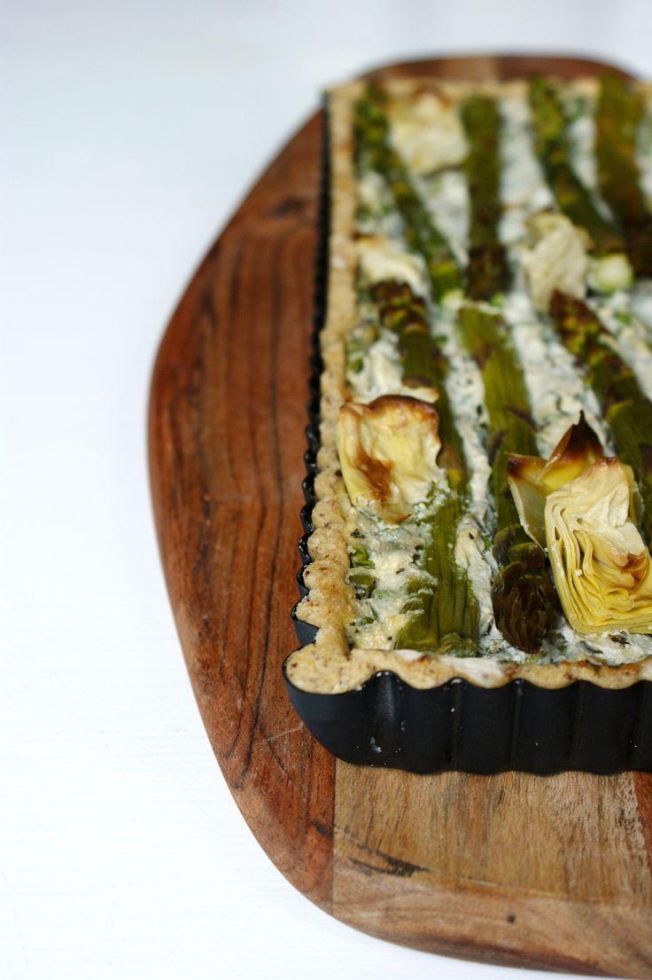 Vegan Gluten-free spring quiche  (Veganistische glutenvrije lente quiche) - Anna Bakt Taart