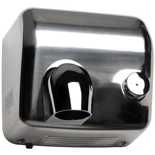 Elektryczne suszarki do rąk z tworzywa ABS oraz metalowe  W większości toalet publicznych w momencie ich wyposażania stają Państwo przed dylematem czy wybrać suszarki do rąk elektryczną czy może pojemniki na ręczniki papierowe. || http://www.sanjo.pl/suszarki-do-rak