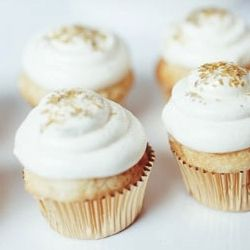Gold Cupcakes sprinkled with luster dust. Love the luster dust!!